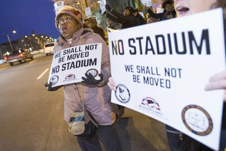 Jackie Wiggins, who still lives in the North Philadelphia house where she was born, helped organize the protest that shut down Temple University's March 6 town hall to discuss its proposed football stadium.