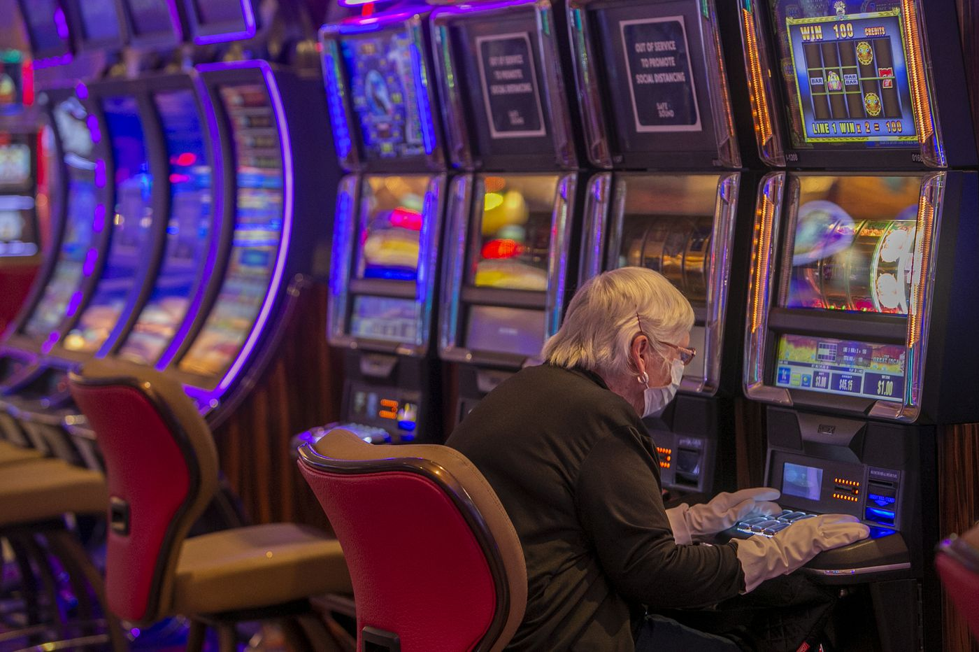 Atlantic City's casinos — all but one — reopen with no smoking, drinking, or eating inside
