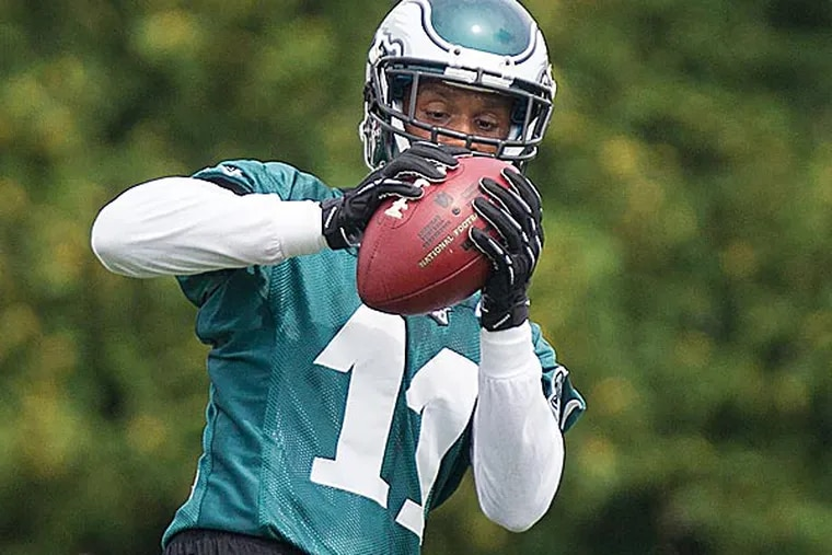 Eagles wide receiver Russell Shepard. (Ed Hille/Staff Photographer)