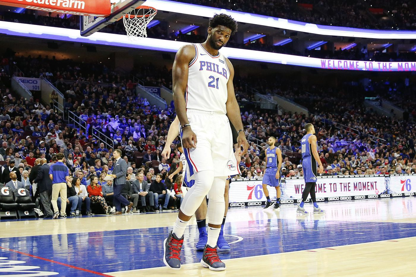 Joel Embiid rolls ankle at practice, questionable for Saturday's game vs. Hornets