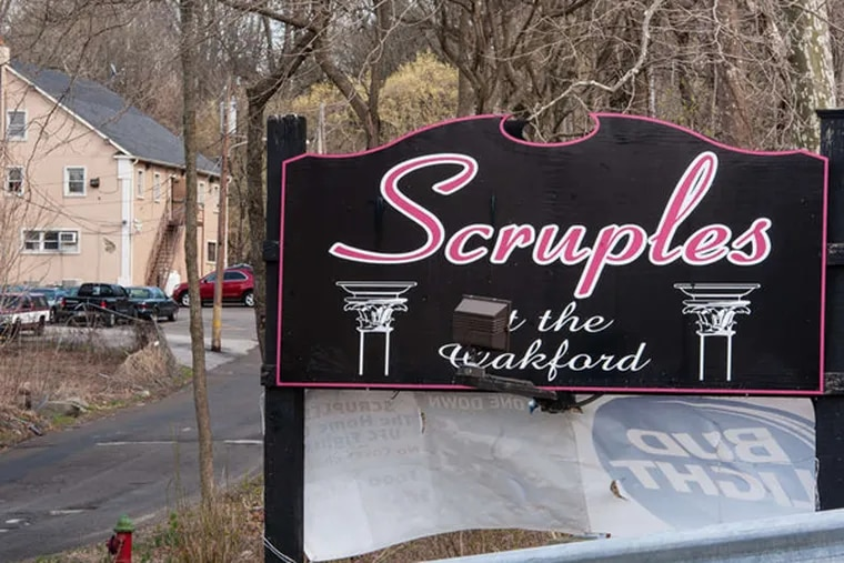 The owner of Scruples at the Oakford, in Trevose, had to appear in the courtroom recently in a promoting-prostitution case. (Matthew Hall/staff photographer)