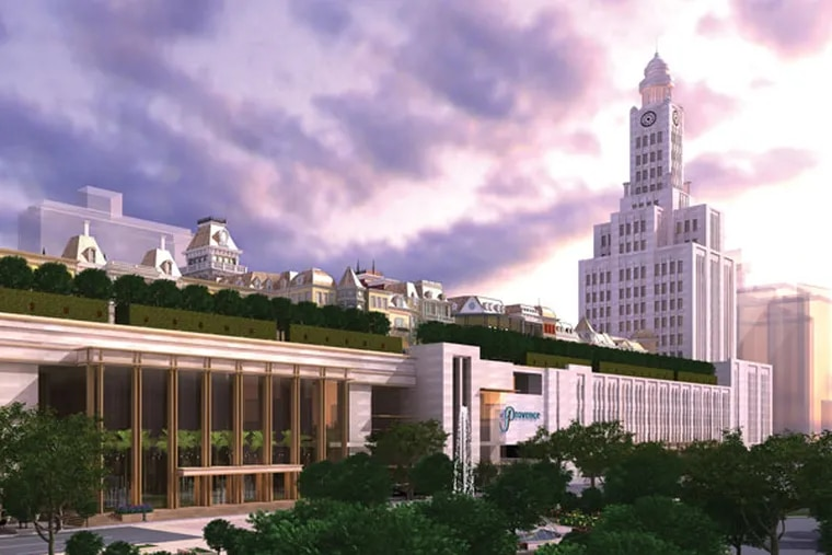 File: A proposal for The Provence Casino at the corner of North Broad Street and Callowhill Street. Shown here is an exterior view. (Photo courtesy of The Provence)