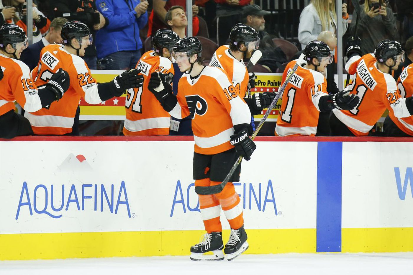 Flyers rookie Nolan Patrick not overwhelmed by NHL so far