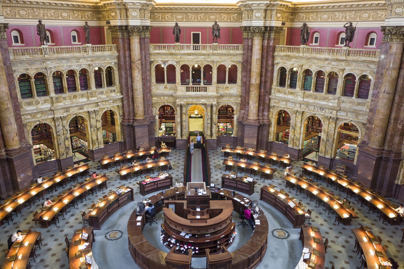 The Library of Congress is operating as normal during the government shutdown, because it is funded through the Legislative Branch. (Photo: Nikki Kahn / Washington Post)