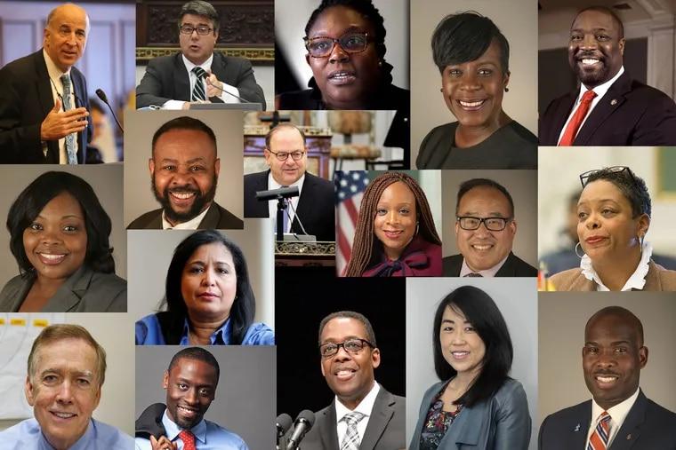 Members of Philadelphia City Council in 2021.