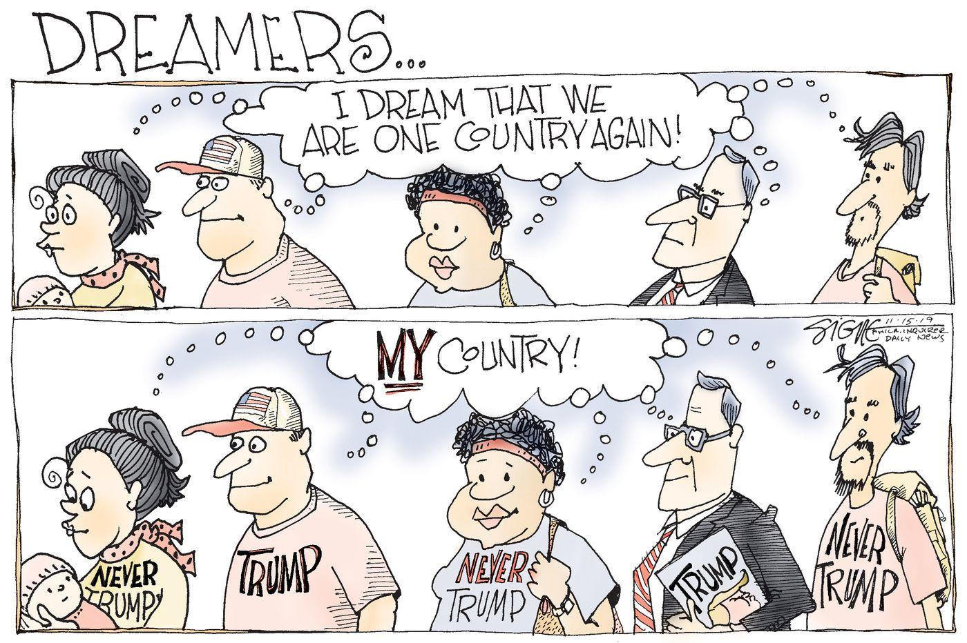 Political Cartoon: Dreaming of Donald Trump