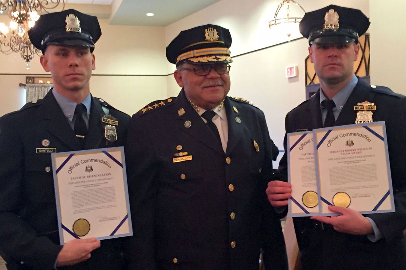 Cops honored for talking their way out of danger