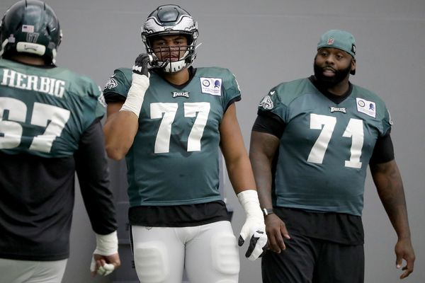 Eagles' Andre Dillard 'very ready' to start at left tackle with Jason Peters out against the Cowboys
