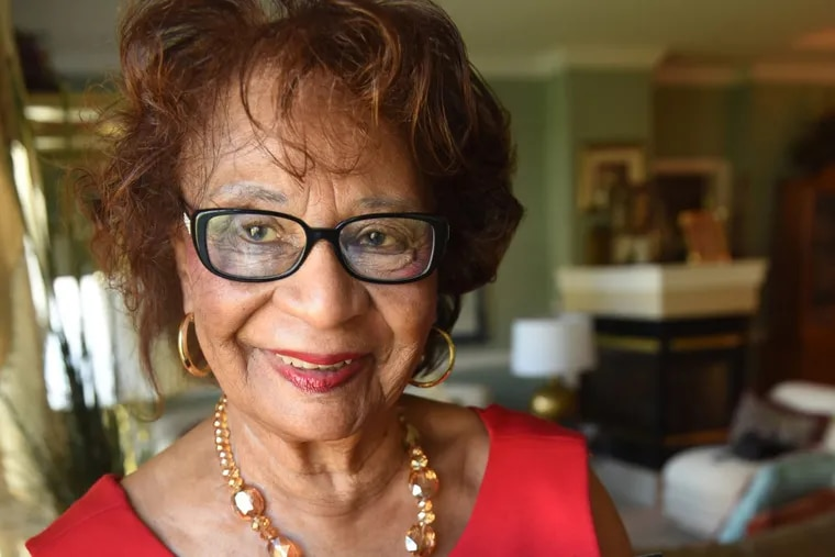 Riletta Cream, in an image taken a year ago at her home. The former Camden County freeholder and educator grew up in Camden and celebrated her 90th birthday last year with a bash to raise money for scholarships for Camden students.