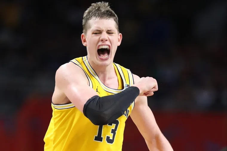Michigan's Moe Wagner could be a handful for the Wildcats in the NCAA championship game.