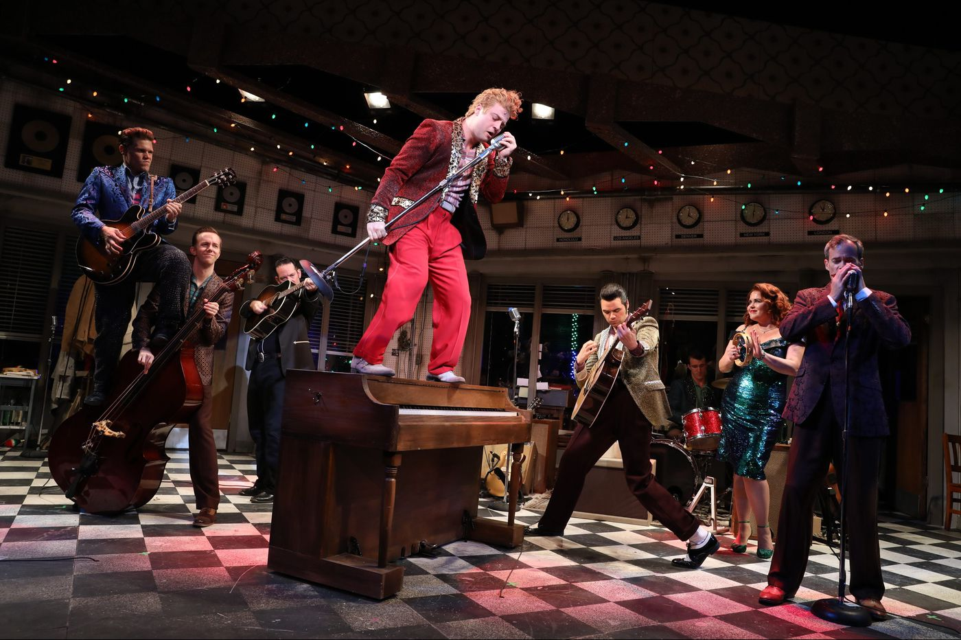 Elvis, Johnny Cash, Carl Perkins and Jerry Lee Lewis come alive in the Bucks County Playhouse's 'Million Dollar Quartet'