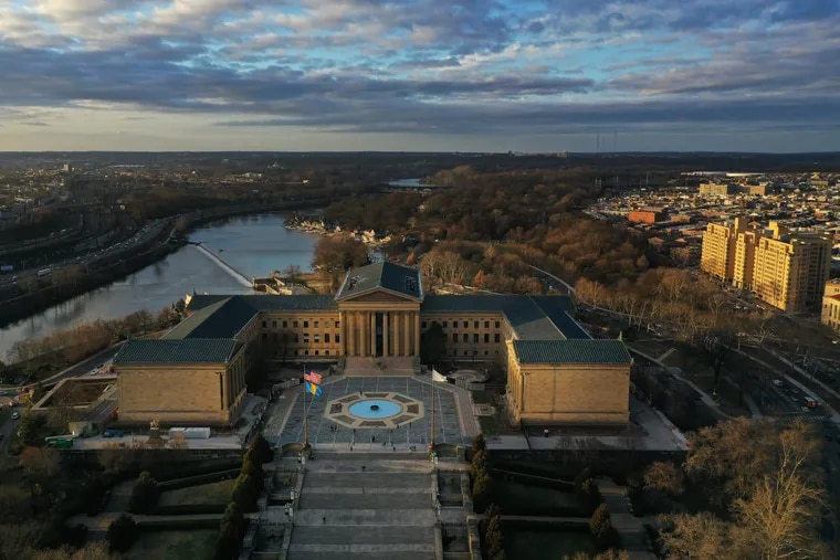 The Philadelphia Museum of Art as seen by drone, January 9, 2020.