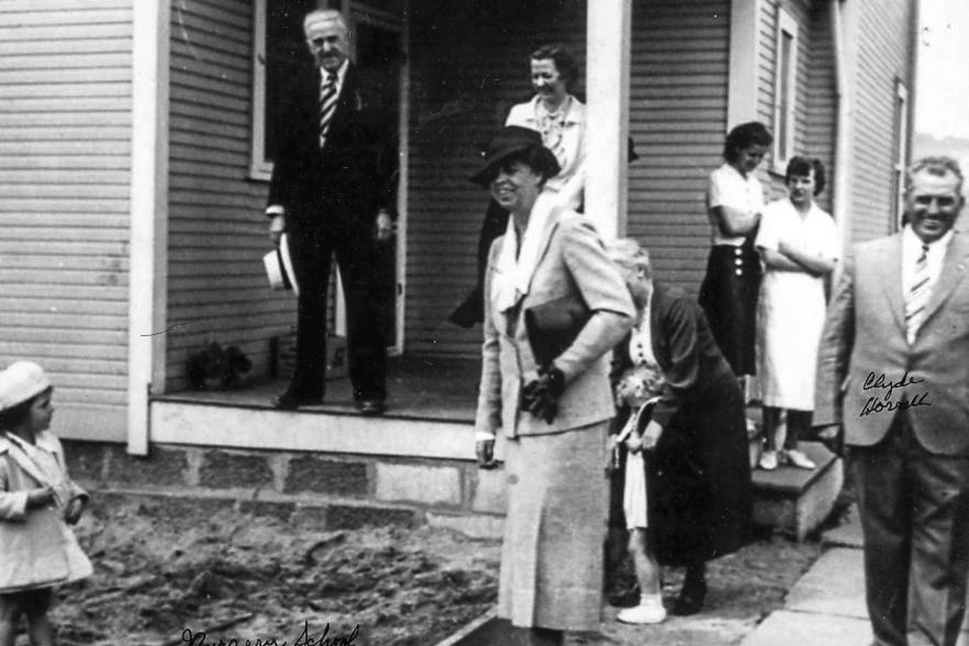 Eleanor Roosevelt tours a nursery school at Westmoreland Homesteads on May 21, 1937. After the First Lady's visit, residents held a contest and renamed the town after her, combining the final syllables of her first and last names.