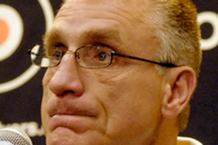 The Flyers' Paul Holmgren says catching the Pittsburgh Penguins remains a challenge. Story on D2.