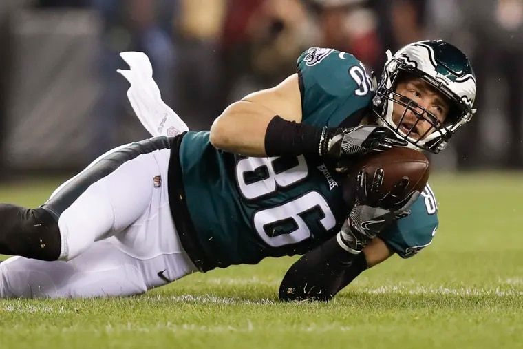 Zach Ertz is on pace to set the single-season record for catches by a tight end.