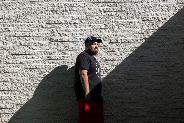 """Tyler Diamond, who was recently released from a Delaware County jail to a recovery program in Chester, said he battled deep depression during six months locked up because he had no approved address. """"I feel a lot better now that I'm actually out and doing something productive,"""" he said."""