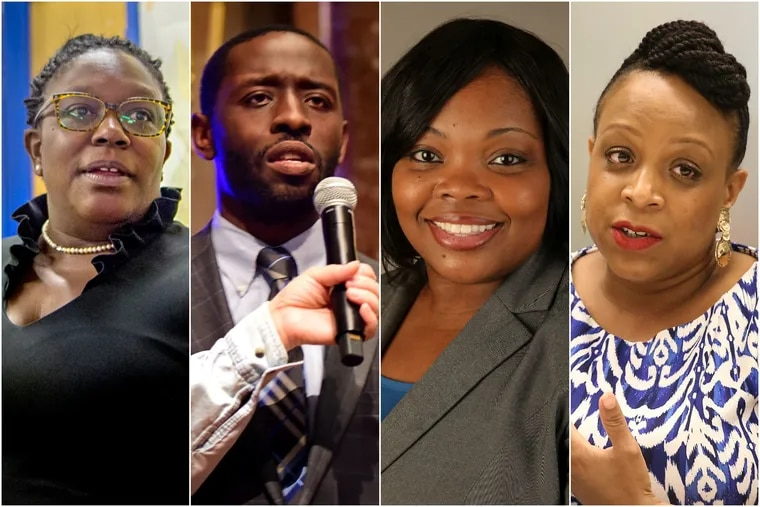 From left to right, Kendra Brooks, Isaiah Thomas, Katherine Gilmore Richardson, and Jamie Gauthier will join Philadelphia City Council in January.