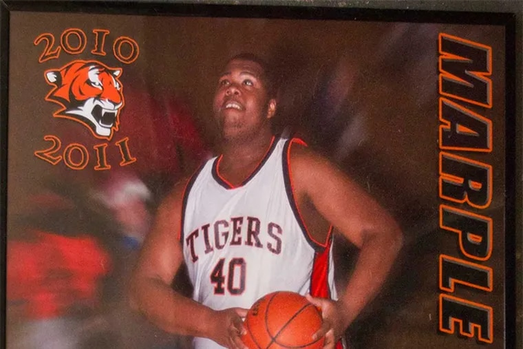 Copy photo provided by the family of shooting victim, Christian Massey, taken in 2010 at age 18. while playing basketball with Marple Newtown.