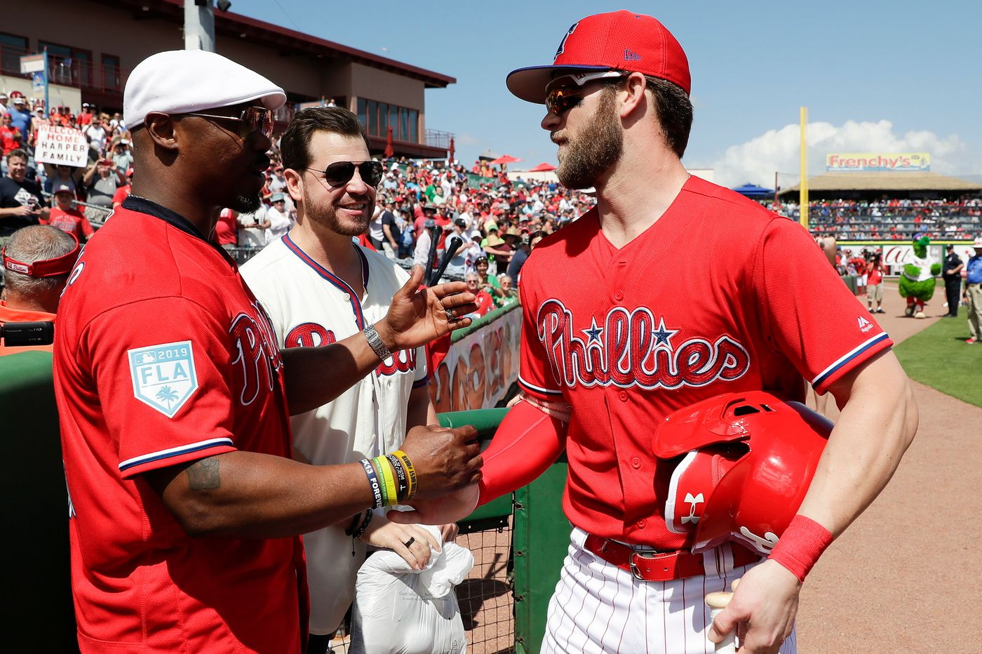 Hall of Famer Brian Dawkins helped the Phillies sign Bryce Harper, then watched his debut