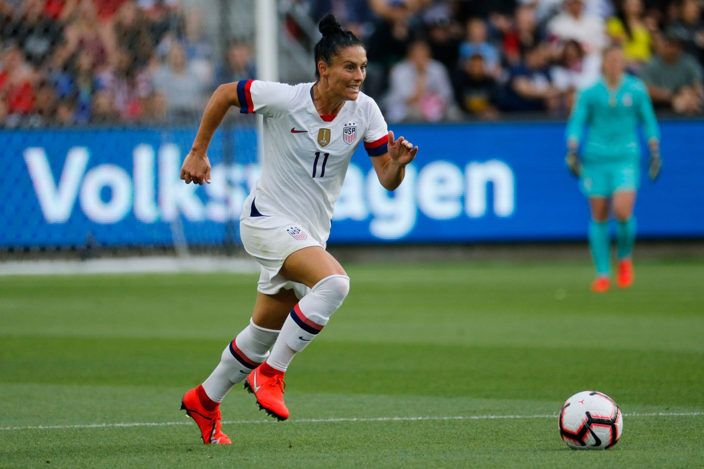 cb3e1422a Ali Krieger earned her 99th career U.S. national team cap in an April  friendly against Belgium