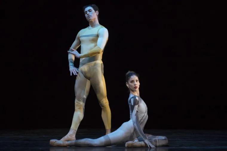 Pennsylvania Ballet Principal Dancers Dayesi Torriente and Sterling Baca in Matthew Neenan's world premiere of It goes that way.