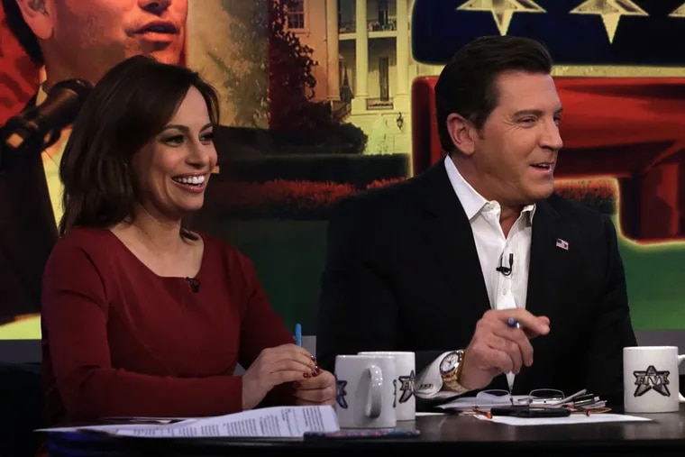 """Former Fox News contributor Julie Roginsky, seen here alongside former """"The Five"""" co-host Eric Bolling, claimed a promised position never happened after she rejected Roger Ailes' sexual advances."""