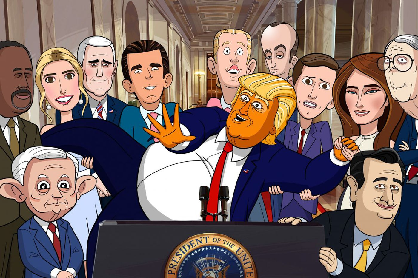 Stephen Colbert: How actor from Philly became voice of Trump in 'Our Cartoon President'