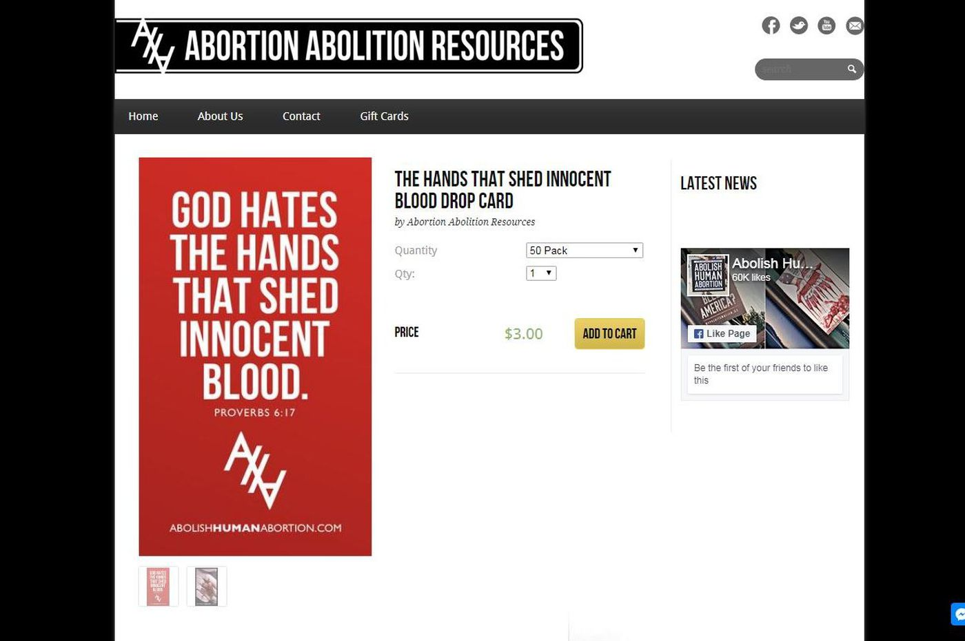 Abortion 'abolitionists' drop these cards in ATMS, gas pumps, and diapers at the KOP Wegmans