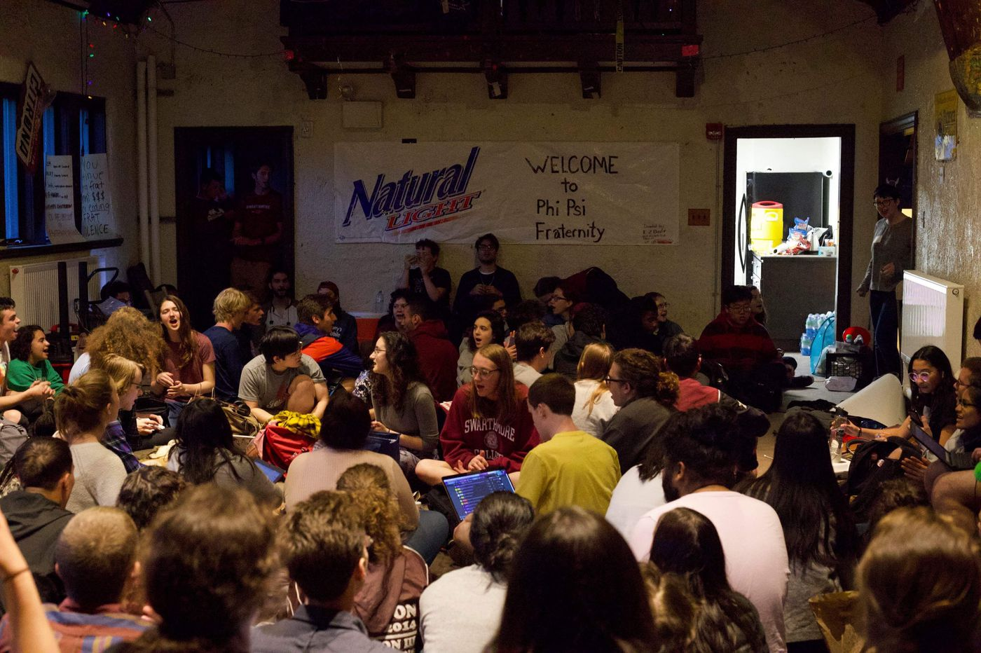 Sit-in at Swarthmore fraternity continues; students say temporary suspension is insufficient