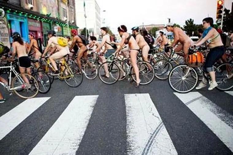 The most popular photo gallery in 2010: the Naked Bike Ride in Philadelphia. (Inna Spivakova / Phrequency.com)