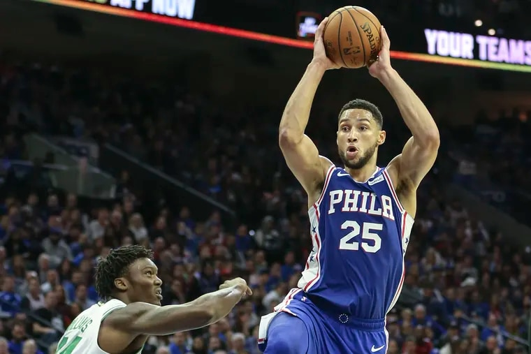 Ben Simmons had a game-high nine assists to go with 24 points and eight rebounds Wednesday night.