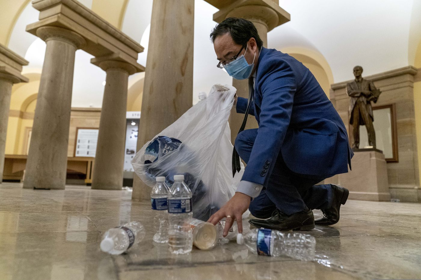 N.J. Rep. Andy Kim helps clean up Capitol: 'What else could I do?'