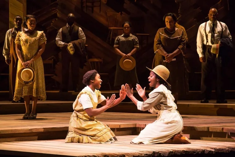 """Cynthia Erivo (left) and Joaquina Kalukango in """"The Color Purple,"""" Dec. 12-17 at the Forrest Theatre."""