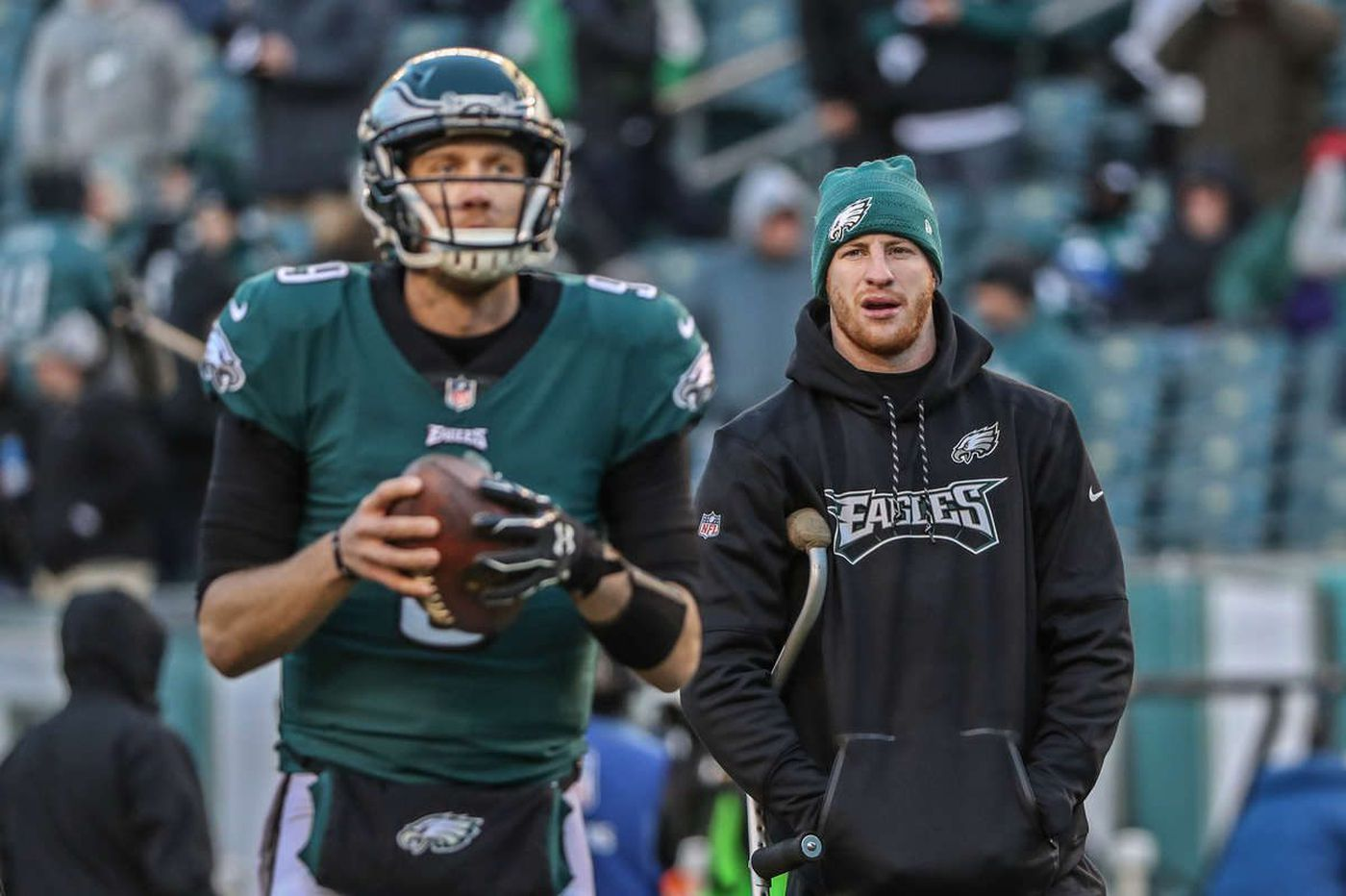 Eagles' Carson Wentz acknowledges 'human element' in not being a part of Super Bowl | Jeff McLane