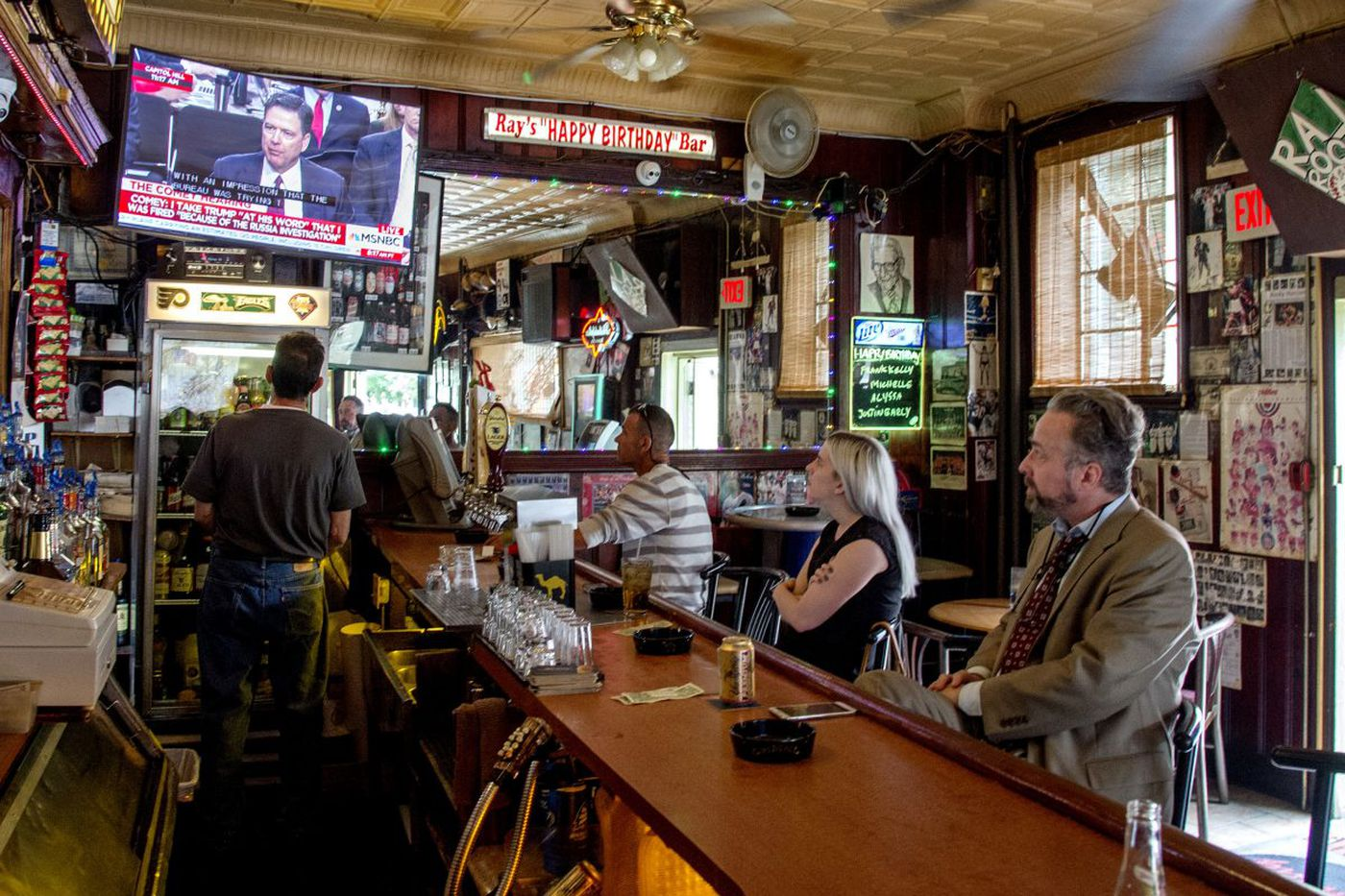 Pub patrons watching Comey tried to swallow what's at stake