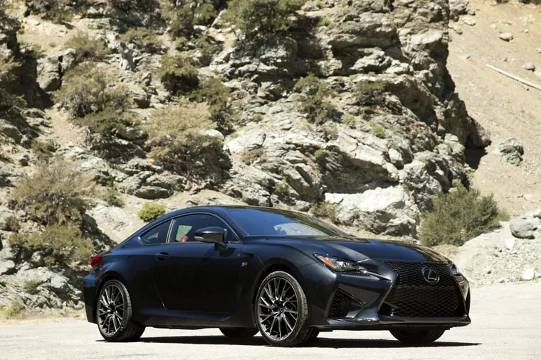 The Lexus RCF's 5.0-liter V-8 creates 487 horses, and the 0-60 time is 4.3 seconds, according to Car and Driver.