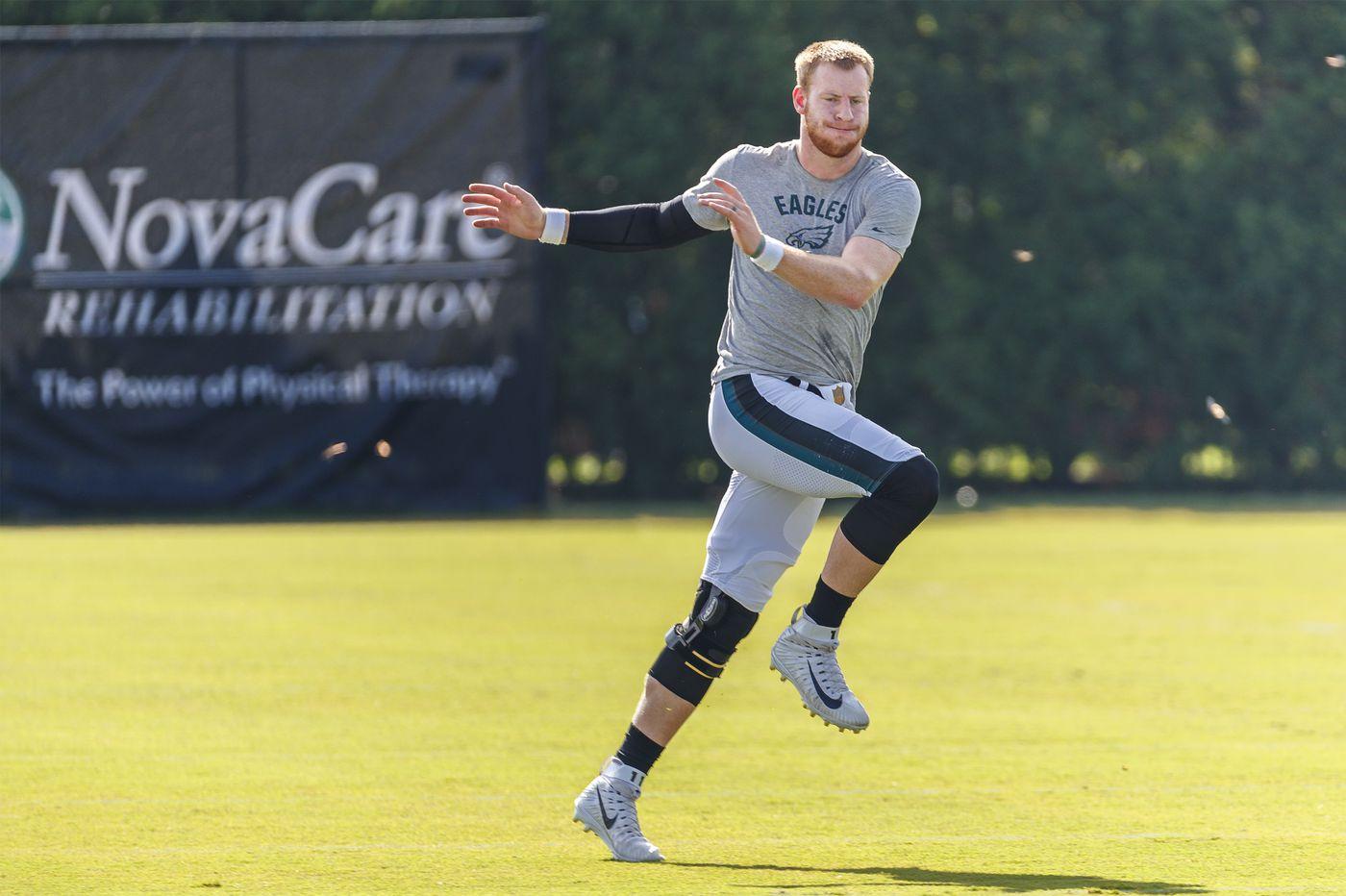 Carson Wentz still eyes season opener, but Eagles will open preseason without him