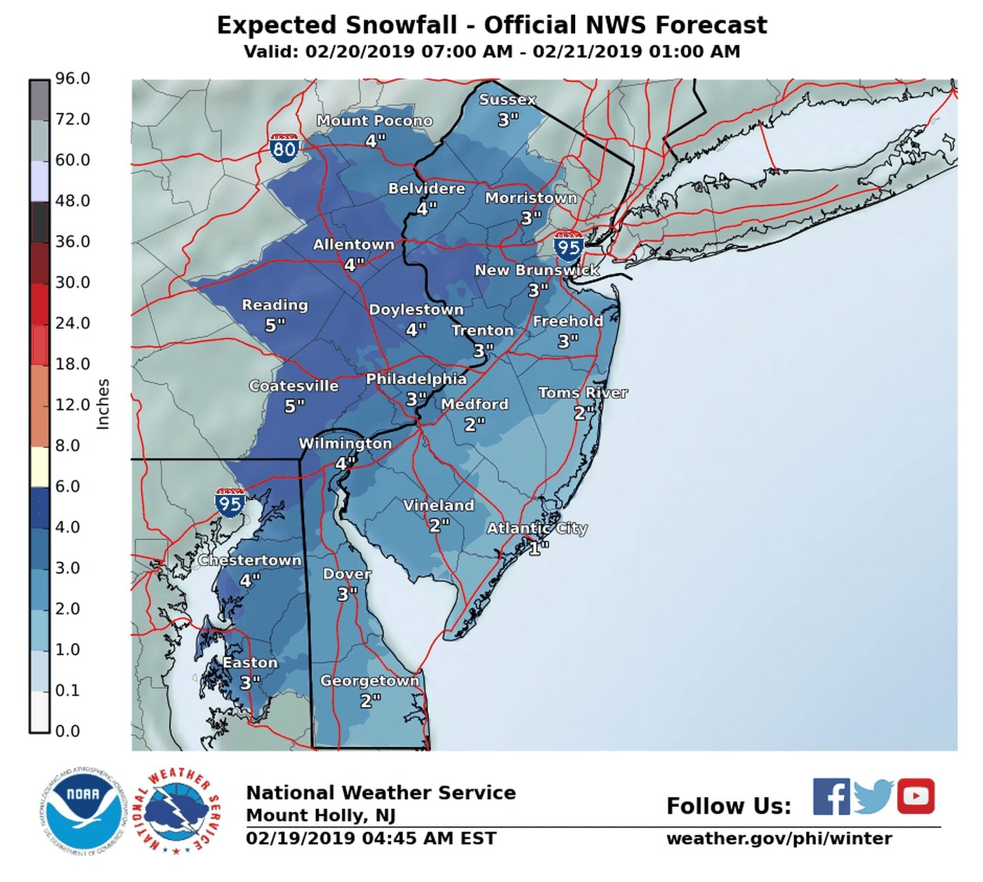 Snow Storm Weather Map.Up To 5 Inches Of Snow Possible Philly Schools Closed Wednesday