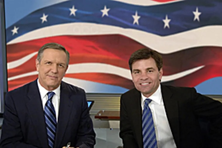 Charles Gibson and George Stephanopoulos moderated the debate at  the National Constitution Center for ABC News.