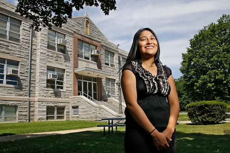 """Isla Martinez-Iglesias, star student at Manor College, will go on to La Salle University in the fall on a scholarship from the Jack Kent Cooke Foundation and expects to  graduate debt free: """"At this point, I just stopped doubting that the impossible was possible."""""""