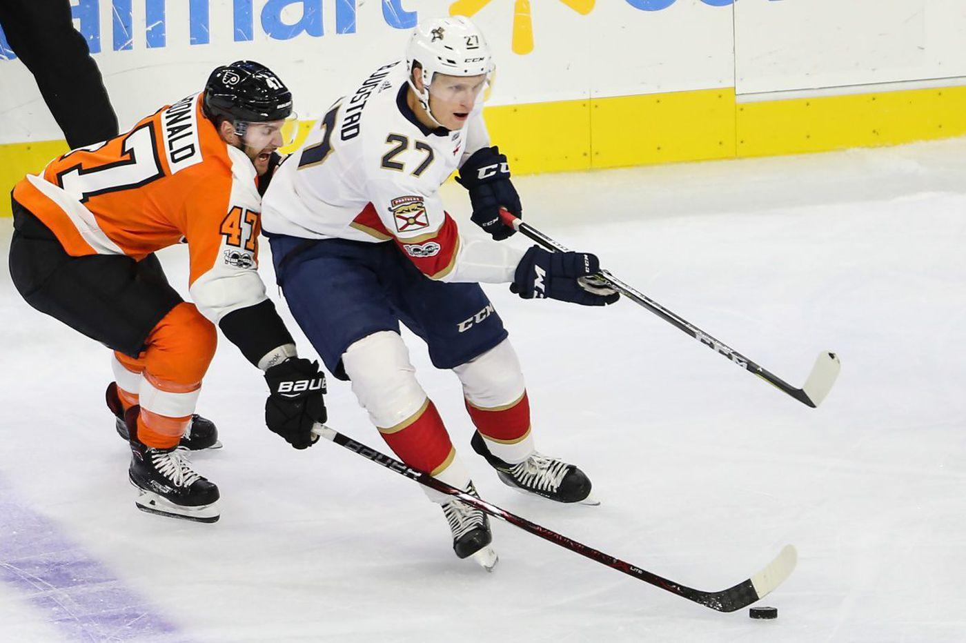 Flyers hope Andrew MacDonald steadies slumping defense
