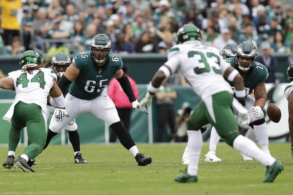 Eagles' O-line needs to be more consistent, but NFL's flag fest fueled problems vs. the Jets