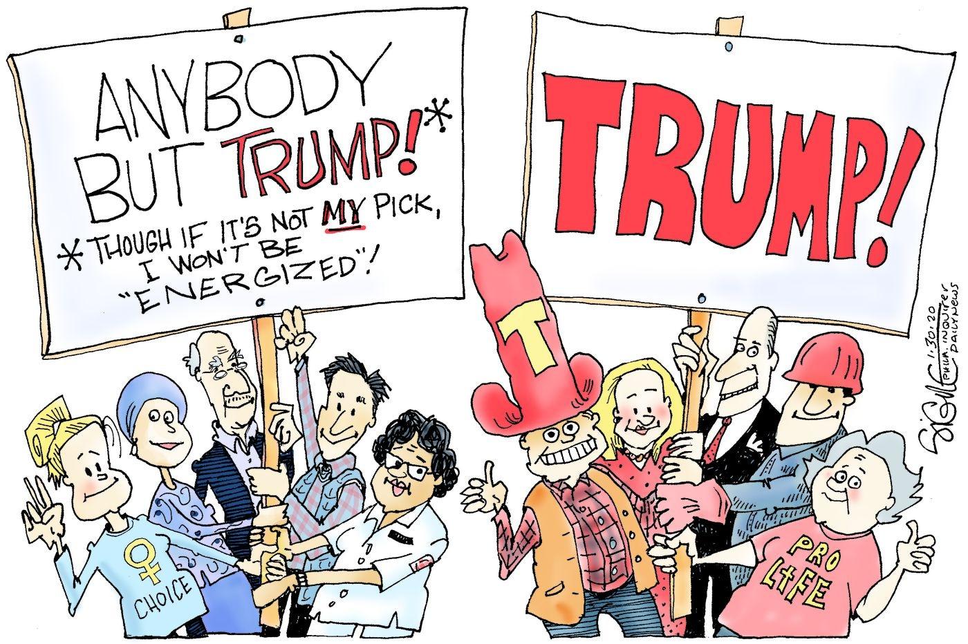 Political Cartoon: For 2020, anybody but Trump