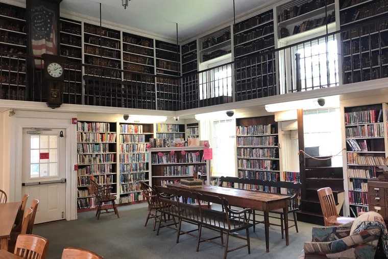 The original wing of the Union Library Company of Hatboro dates back to 1845 and features a Civil War-era American Flag.