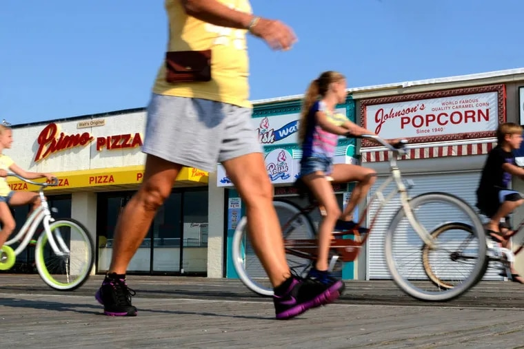 There are plenty of great places to bike at the Shore, and many shops offering bike rental.