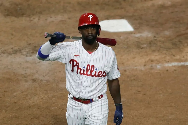 Even after injuries to outfielders Jay Bruce and Roman Quinn over the weekend, the Phillies want to be cautious about not overusing Andrew McCutchen (above) in left field.