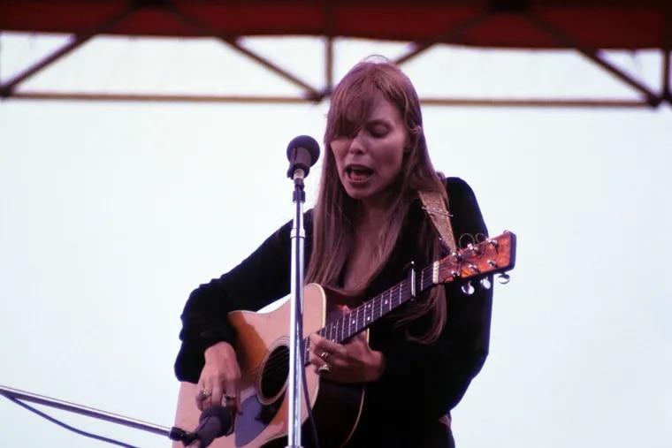 Joni Mitchell at the Atlantic Pop Festival