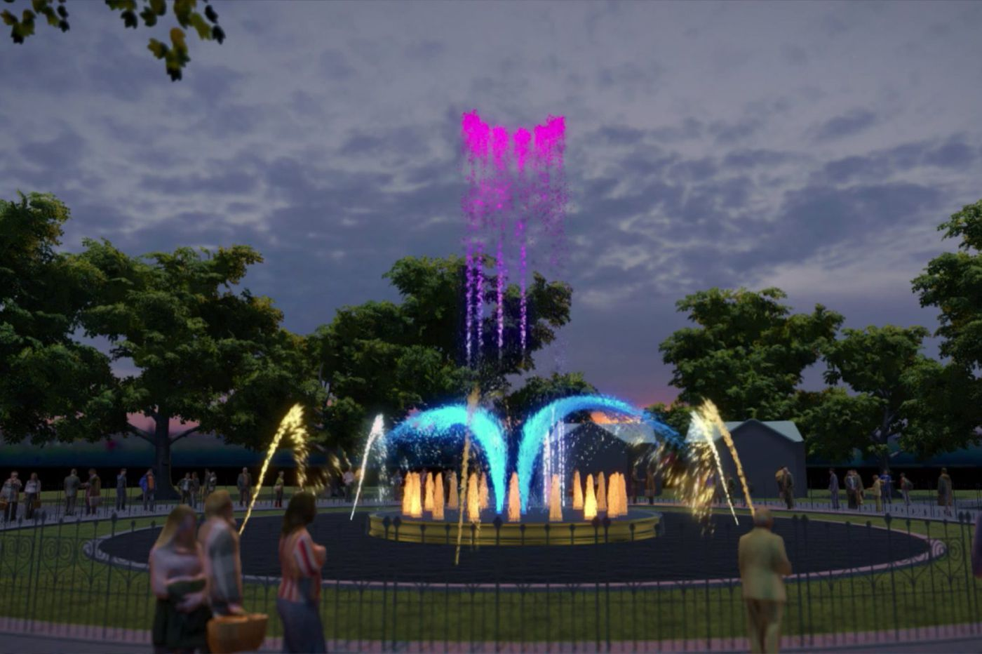 Franklin Square's historic fountain is getting a choreographed light show