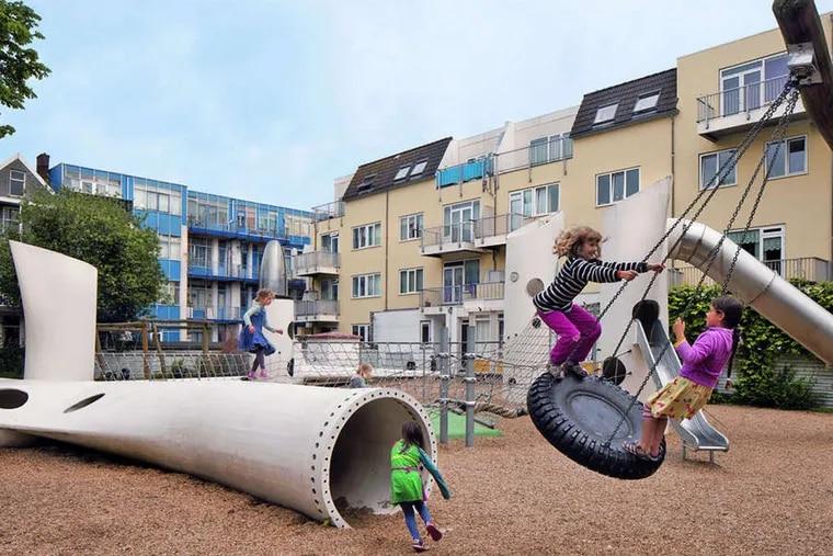 Playground in Rotterdam, Netherlands by 2012Architecten (now Superuse Studios). (Photo by Denis Guzzo)