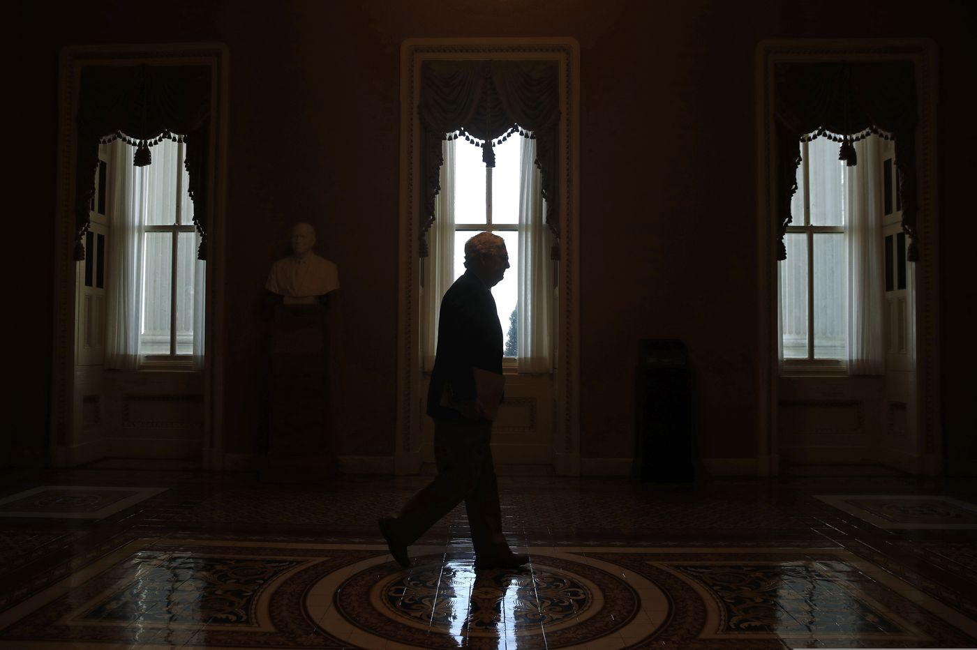 Long drives, no staff, and face masks: the Senate returns as most of D.C. remains in lockdown
